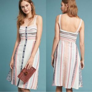 Anthropologie Hutch Pastel Stripe Dress